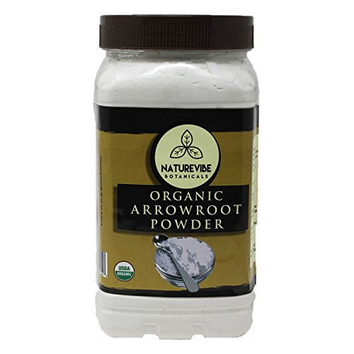 Arrowroot Powder - Organic Arrowroot Powder by Naturevibe Botanicals (16 Ounces) | Gluten Free and Non-Gmo | Manihot esculenta