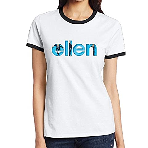 Xiwang Women's The Ellen DeGeneres Logo Crew Neck T-shirt (Ncis La Stuff)