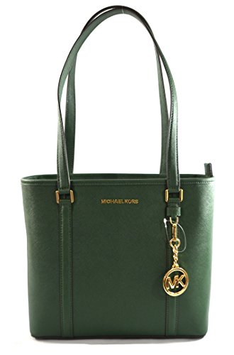 MICHAEL Michael Kors SADY Small N/S Top Zip Tote Bag - Michael Kors White Handbag Blue Navy And