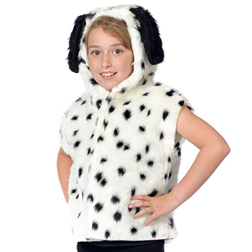 Dalmation Puppy Dog Costumes (Dalmatian Costume for kids. One Size 3-9 Years.)