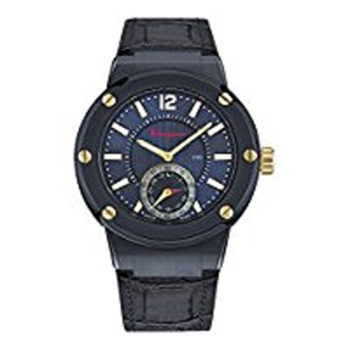 Salvatore-Ferragamo-Mens-F-80-Swiss-Quartz-Stainless-Steel-and-Leather-Casual-Watch-ColorBlue-Model-FAZ010016