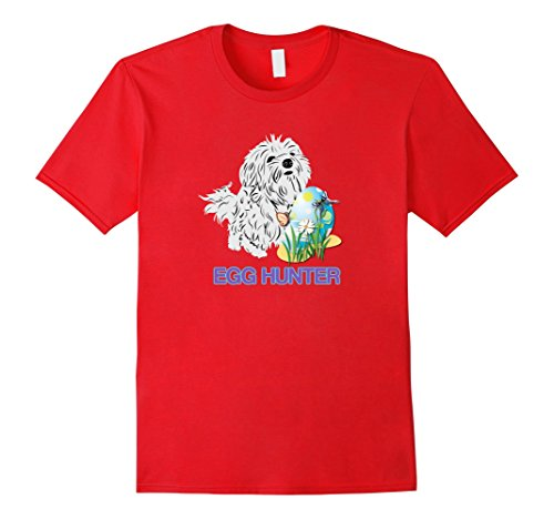 Happy Easter Maltese Dog Lovers Egg Hunting Cute T-Shirt