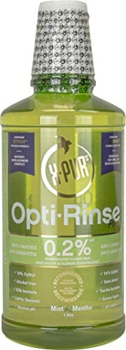 X-PUR Xylitol Mouthwash - 0.2% X-PUR Opti-Rinse Plus With Citrox - Antibacterial Mouthwash - Mint Flavored Alc