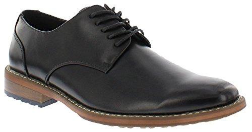 Van Heusen Mens Garrett Oxford Business Dress Shoe, BLACK, SIZE 8 M US