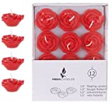 DDI 1996310 12 Piece 1.5 in. Unscented Floating Flower Candle in White Box - Red44; Case of 48