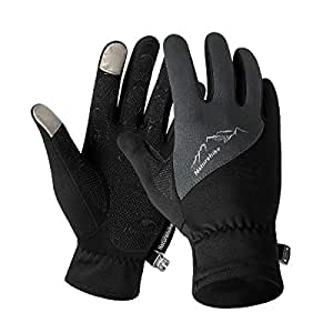 TRIWONDER Winter Warm Gloves Touch Screen Gloves Driving Gloves Cycling Gloves for Men Women (Black, S)