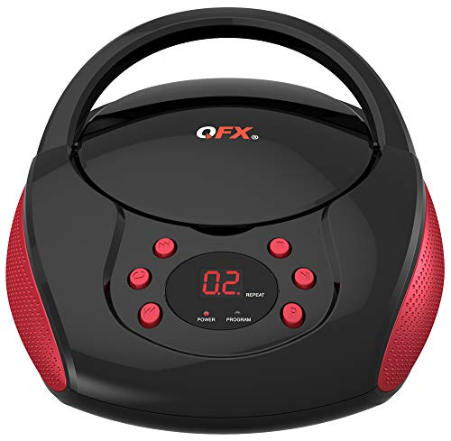 QFX J-24-RD Portable Am/FM Radio with CD Player - Red