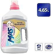 MAS Mas Bebé Detergente Líquido, 4.65 L (62 Cargas), color, 4.65 L, pack of/paquete de