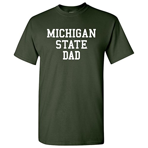 Team Green T-shirt Dad (AS14 - Michigan State Spartans Basic Block Dad T-Shirt - Medium - Forest)