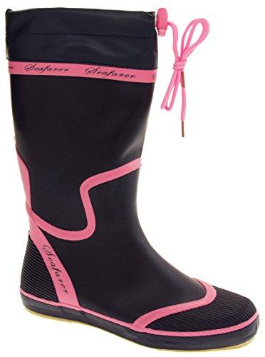Festival 4 8 Blue 7 Navy Boots Waterproof Flirty Pink 3 Size Seafarer Wardrobe Rubber 5 6 UXT8q