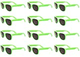 GLOW IN THE DARK Party Rave SUNGLASSES (12 Pack)