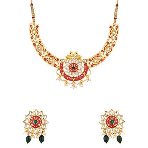 Voylla Noor-Jahan Mor Necklace Set for Women