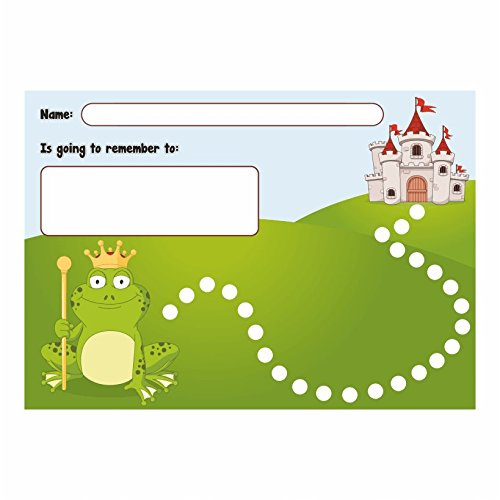 Fairy Tale Chart (Fairytale: Frog Prince and his Castle Reward Chart with Matching Stickers)