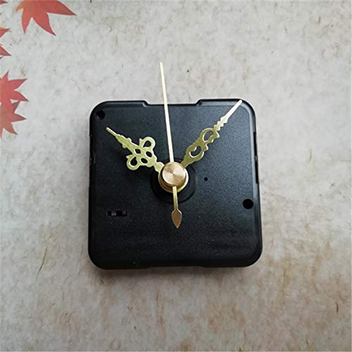 Maslin Sweep 50PCS 12mm Shaft Short Size Gold Hands for Quartz Clock Movement Kits