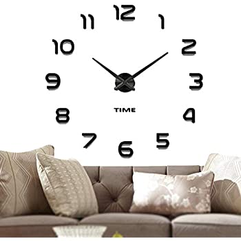 Silver A.Cerco 19 Large Decorative Wall Clock│Solid Aluminium Casing For Clock Movement│Shinny Chromed ABS Made Numerals │Modern Industrial │Silent Movement
