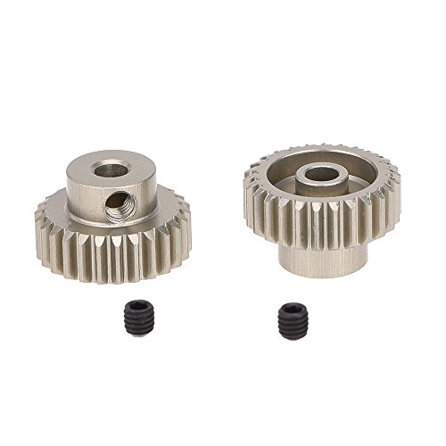 26t Gear (JIMI GoolRC 2Pcs 48DP 26T Pinion Motor Gear for 1/10 RC Car Brushed Brushless Motor)