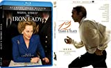 Academy Award Winners Best Picture and Best Actress in The Iron Lady and 12 Years a Slave 2-Blu-ray Bundle