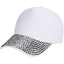 Birdfly Jewel Rhinestone Baseball Cap Bling Studs Hat Plain Blank Sun Visor Hat Adjustable Dad Caps
