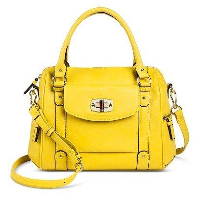 8f8fa986ef Merona Satchel Handbag with Removable Crossbody Strap (GOLDEN APPLE ...