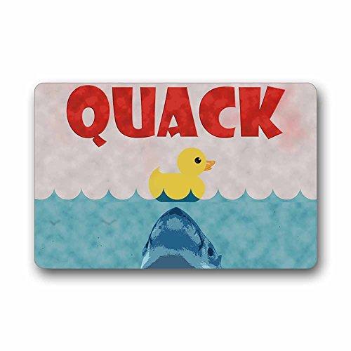Rubber Duck Be Care for The Shark Machine-Washable Door Mat Indoor/Outdoor Doormat Size 23.6(L) x 15.7(W) ()