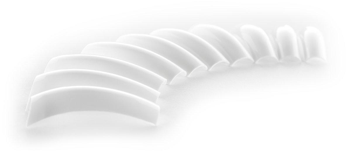 500 francés Colour blanco uñas-consejos colour blanco en 10 tamaños (0-9) en recambio: Amazon.es: Belleza