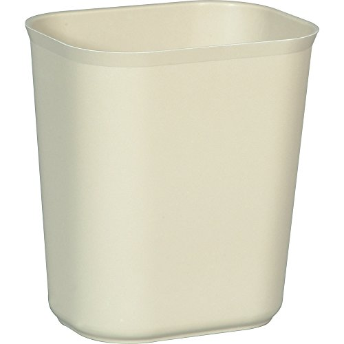 (Rubbermaid Commercial Thermoset Polyester Fire-Resistant Wastebasket, Beige (FG254100BEIG))