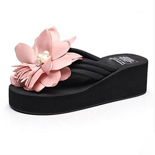 Señoras 1 Verano Clip Frescas Para Suelas Las Pies Del Flores Playa Sandalias Los Zapatillas Espesamiento De UtqxwZA