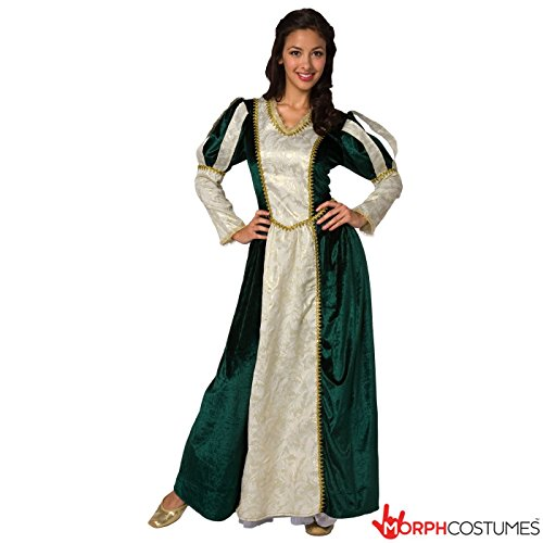 [Womens Medieval Queen Princess Fancy Dress Costume - 1 Piece Quality Costume] (Womens Halloween Costumes Uk)