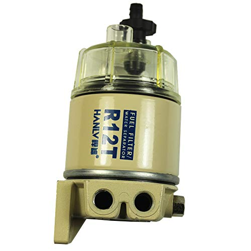 DIESEL FUEL FILTER/WATER SEPARATOR FOR R12T MARINE SPIN-ON HOUSING 120AT