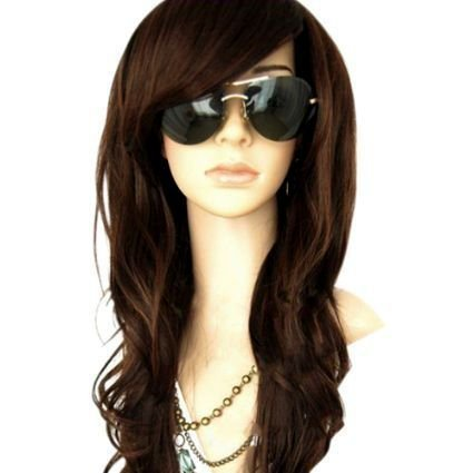 MelodySusie Dark Brown Curly Wigs – Natural, Heat Resistant and Full Wavy...