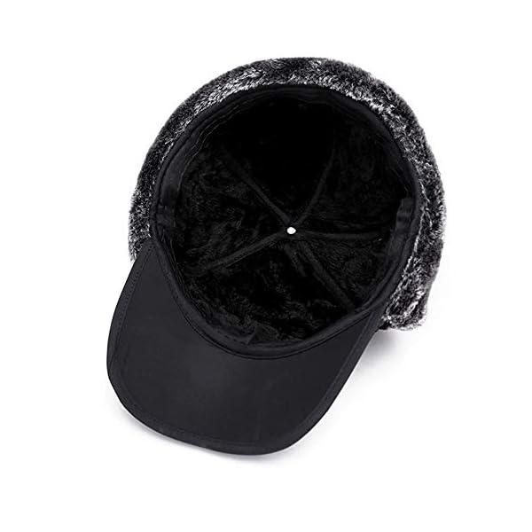 Van Caro Men's Faux Fur Earflap Winter Hat Warm Baseball Cap Hunting Hat