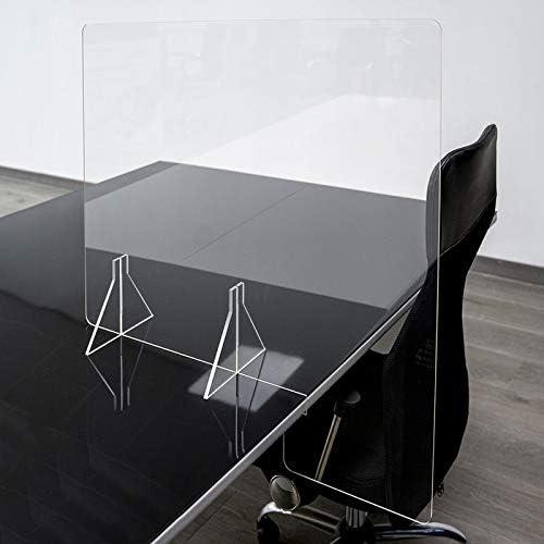 Mampara de oficina | Separador de oficina Metacrilato Transparente 3mm (85cm ancho x 70 cm alto parte visible): Amazon.es: Oficina y papelería