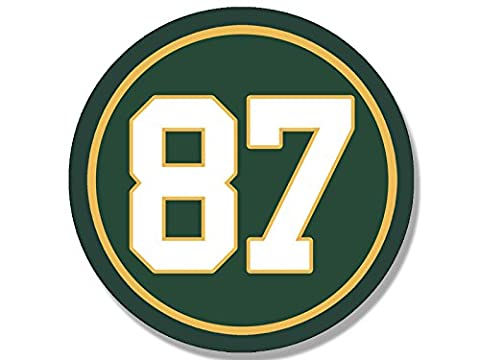 Round #87 Jordy Nelson Sticker (green bay packers number 87) (Packer Jordy)