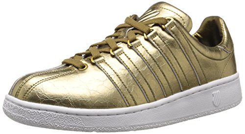 K Classic White VN Metallic Aged Leather Swiss Gold Men's Foil 4rqwxP4E