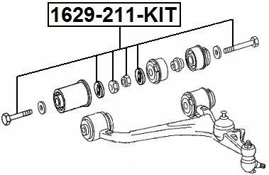 Cam Repair Kit Febest 1629-211-KIT OEM A2209900099