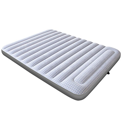 Airbeds Flocked Quick Inflation Indoor Air Mattress With Pump/Pillow And Travel Bag, Queen, Indoor Outdoor Camping Travel, 260kg (Color : Electric pump storage)
