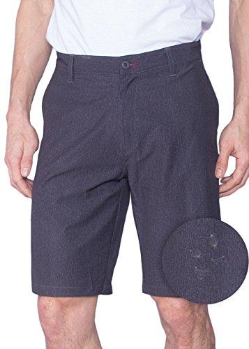 Burnside Mens Hybrid Short Lightweight Stretch Walkshort & Boardshort Charcoal-40
