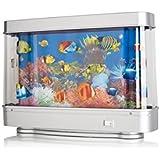Lightahead artificial aquarium fish tank for Fake fish tank with moving fish