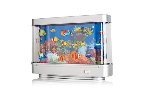 Toy fake fish tank aquarium with revolving aquatic scene for Fake fish tank with moving fish