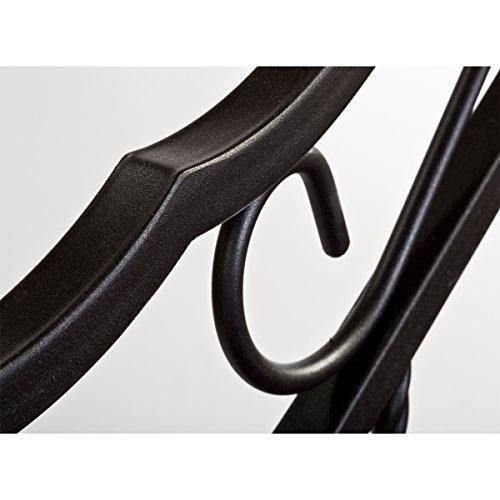 Hillsdale Furniture 1010BKR Madison Bed Set with Rails, King, Textured Black