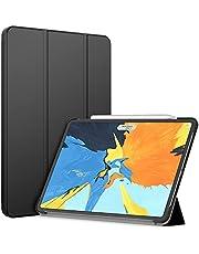 JETech Etui Kompatybilny z iPad Pro 11 Cala, 2021/2020/2018 Model, Obsługuje Ładowanie Pencil, Automatyczne Budzenie/Usypianie, Czarny