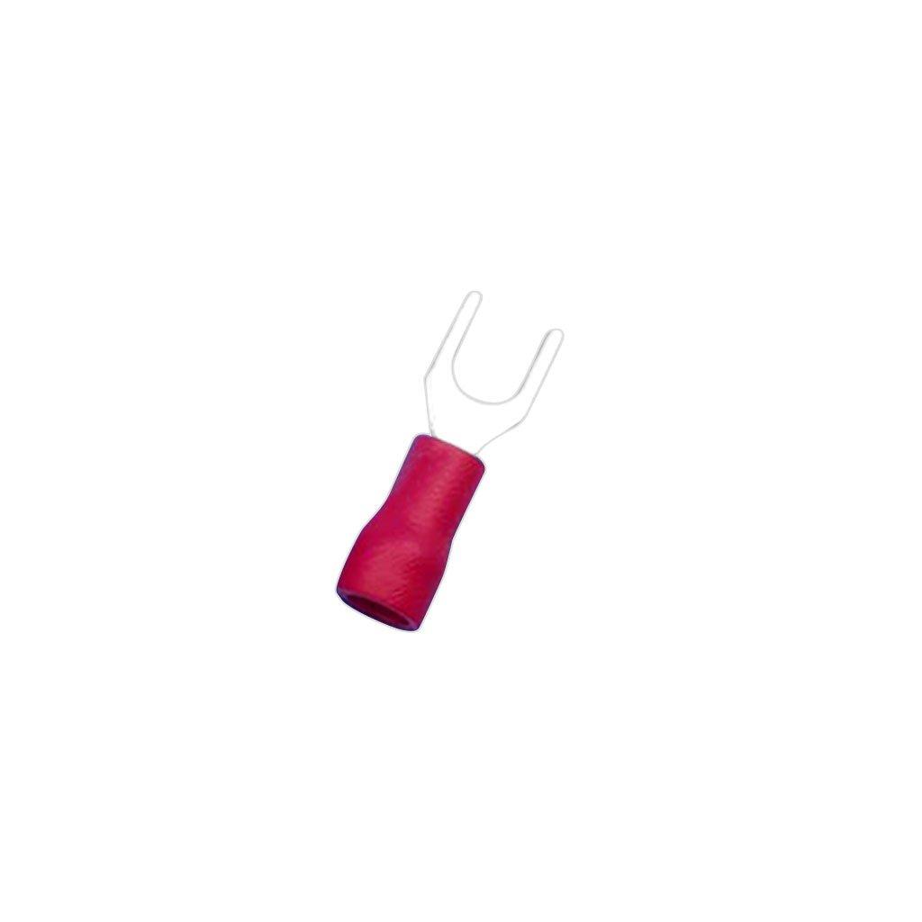 H HILABEE 100x Rojo Con Aislamiento De 4,3 Mm Terminales Tenedor Conector El/éctrico