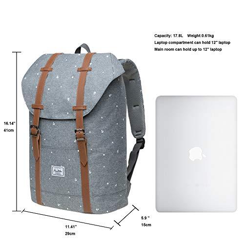"Lightweight Outdoor Backpack, KAUKKO Travel Casual Rucksack Laptop Daypack for 15"""
