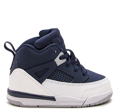 Vorschule Nike Air Jordan Spizike BP Schwarz Zement Schwarz / Weiß / Rot Midnight Navy / Metallic Silber-Weiß