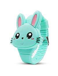 Tanasa Relojes Reloj Electrónico para Niños,Forma de Conejo Lindo, Regalos para Niños.