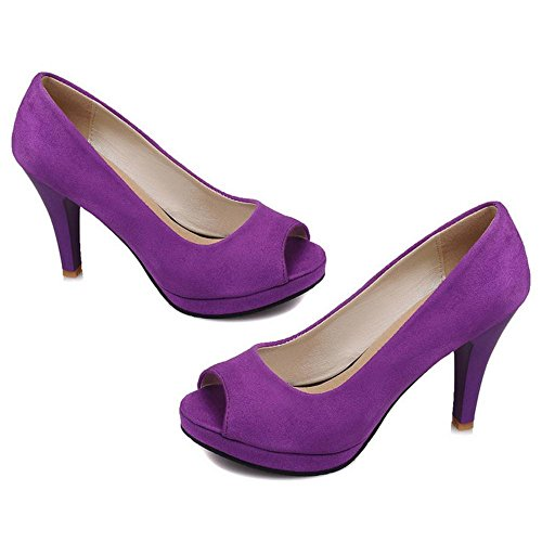 JOJONUNU Femmes Toe Peep Purple Escarpins rrpCR6qUnw