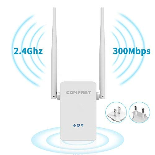 Comfast 800629427550 N300 Wi-Fi Range Extender 2.4GHz Wireless Wi-Fi Signal Repeater, Wall Plug Design, Easy Setup, Extends WiFi to Smart Home -