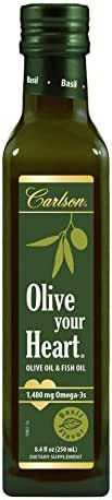 Carlson Olive Your Heart, Basil, Olive Oil and Omega-3s, 1,480 mg Omega-3s, 250 mL