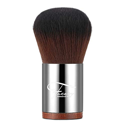 Foundation Makeup Brush,Facocy Premium Flawless Powder Makeup Blush Dense Bristles Face Kabuki Cosmetic Brush (Best Mac Brush For Powder Foundation)