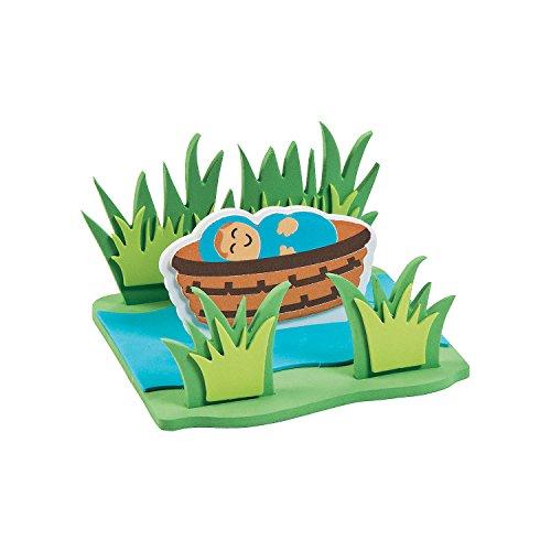 Fun Express - Baby Moses Floating ck - Craft Kits - Party Craft Kits - Toys - 12 -